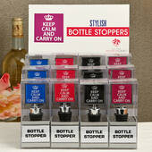 Keep Calm and Carry On Bottle Stopper