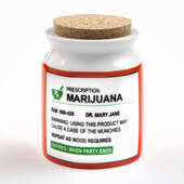 Large Novelty Prescription Mary Jane Stash Jar