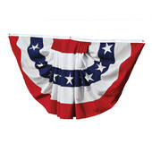 Made In The USA 6' Red White And Blue American Flag Fan Bunting