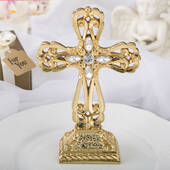 Magnificent Shiny Gold Cross Statue