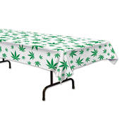 Marijuana Weed Design Plastic Tablecover