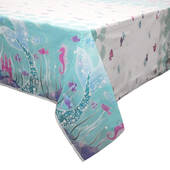 Mermaid Plastic Table Cover - Rectangle