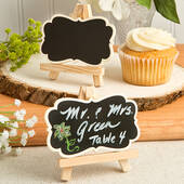 Natural Wood Easel and Blackboard Placecard Holder