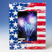 Patriotic Stars and Stripes 4 x 6 Glass Frame