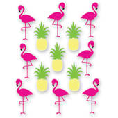 Pineapple and Flamingo Window Clings