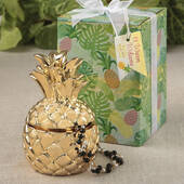 Pineapple Themed Gold Pineapple Box from The Warm Welcome Collection