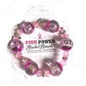 Pink Power Pink Ribbon Beaded Bracelet