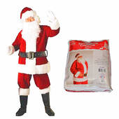 Plush Complete Santa Claus Suit