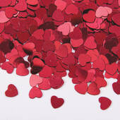 Red Foil Heart Confetti
