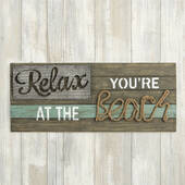 Relax You're At The Beach Wall Sign