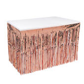 Rose Gold Metallic Table Skirting