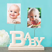 Rose White Baby Photo Holder