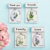 Sentiment Flowers Keychain