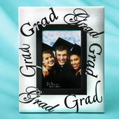 Silver Frame with Black Letters Grad-Grad 2 x 3