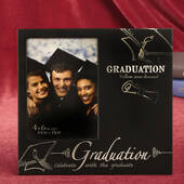 Stunning Black and Silver Graduation 4 x 6 Frame