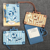 Suitcase Design Luggage Tag 2 Assorted