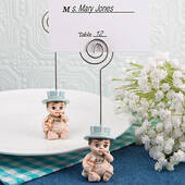 Vintage Baby Boy Place Card Holder