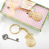 Warm Welcome Collection Pineapple Themed Gold Metal Key Chain