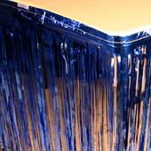 14' Blue Metallic Foil Tableskirt