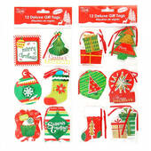 3D Metallic Christmas Gift Tags