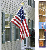 6ft Gold Wall Mount Flag Pole Kit