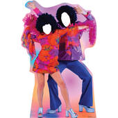 70S Dance Couple Standin Cardboard Cutout