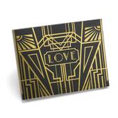 Art Deco Black Guest Book - Gold