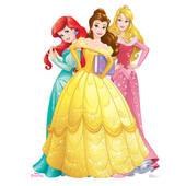 Belle, Aurora And Ariel Cardboard Cutout