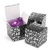 Black And Silver Foil Patterned Boxes