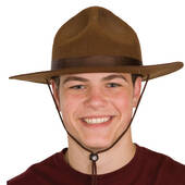 Brown Smoky Bear Ranger Hat