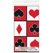 Card Suit Plastic Table Cover - Rectangle