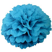 "Caribbean Teal 16"" Puff Ball Decoration"