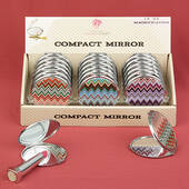 Chevron Design Mirror Compacts