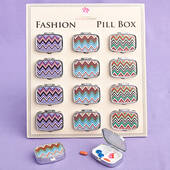 Chevron-Design Pill Boxes