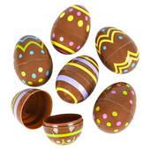 Chocolate Candy Print Plastic Easter Eggs - 2 1/2""
