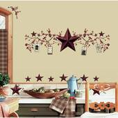 Country Stars And Berries Peel And Stick Decal