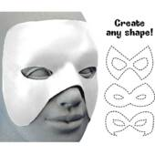 Cut To Shape White Mask