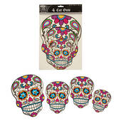 Day Of The Dead Skeleton Face Cutouts