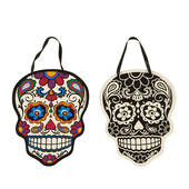 Day Of The Dead Skull Plaque