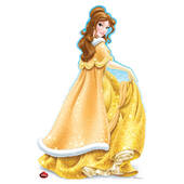 Disney Holiday Belle Cardboard Cutout