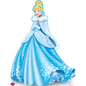 Disney Holiday Cinderella Cardboard Cutout