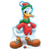 Disney Holiday Donald Duck Cardboard Cutout