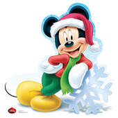 Disney Holiday Mickey Mouse Cardboard Cutout