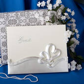 Double Heart Guest Book