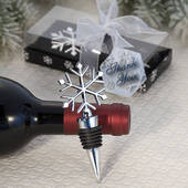 Elegant Snowflake Design Wine Botter Stopper