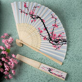 Fabric Fan With Cherry Print