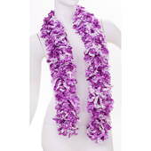 Faux Luau Purple Featherless Boa (6', 185 grams)