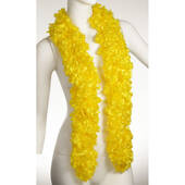 Faux Yellow Featherless Boa (6', 185 grams)