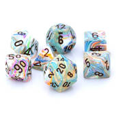 Chessex Festive Vibrant With Brown Polyhedral 7 Die Set