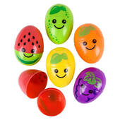 Fruit Print Plastic Easter Eggs - 2 1/2""
